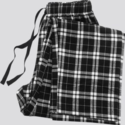 Black Plaid Pajama Bottom
